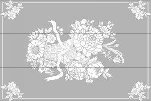 Пескоструйные рисунки - цветы