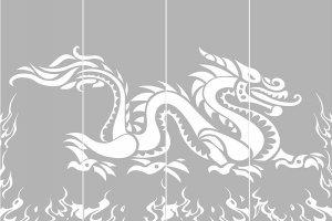 Пескоструйные рисунки - драконы