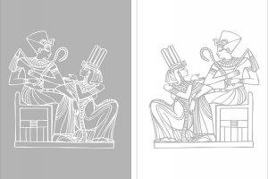 Пескоструйные рисунки - Египет