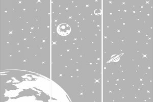 Пескоструйные рисунки - космос