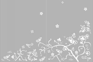 Пескоструйная рисунки - растительные узоры