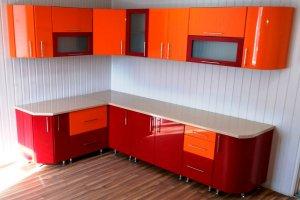 """Угловая кухня МДФ со стеклом """"УК-15"""""""