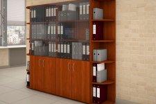 Шкаф для документов в офисе